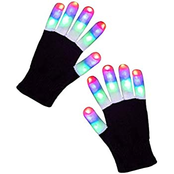 fa36650c Amazon.com: Luwint Children LED Finger Light Up Gloves - Amazing ...