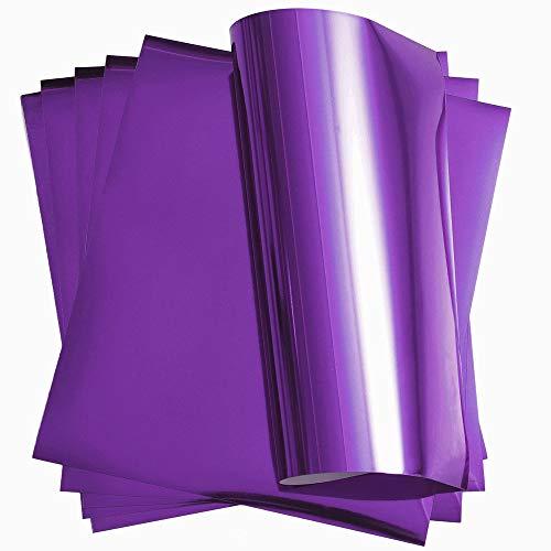 Purple Metallic Foil Vinyl Heat Transfer Vinyl HTV for T-Shirt 12