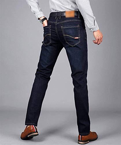 Stretch Jeans Estilo Per Tempo Dritti Especial Moda Fit Denim Pantaloni Uomo Vintage Il Libero Slim Blaublack 8pwzqx5