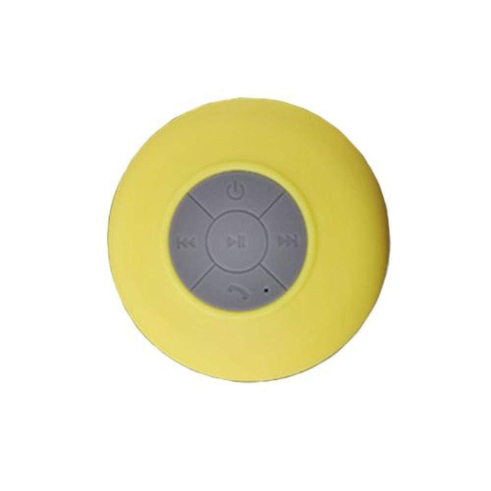 Amarillo Gamloious Wireless Mini Bluetooth succi/ón de Ducha Impermeable de Manos Libres para autom/óvil micr/ófono Altavoz