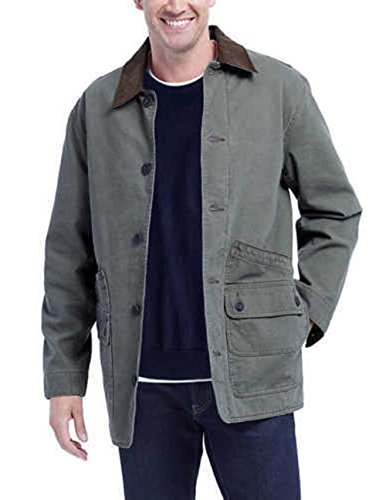 - The Orvis New Men's Corduroy Collar Cotton Canvas Barn Jacket Sage. Size: Medium