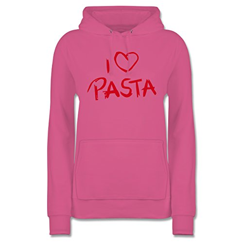 Shirtracer Küche - I Love Pasta - Damen Hoodie Rosa EaePT6T