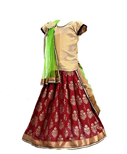 2a5e8456056 Aglare Baby s Blended Lehenga Choli with Brooch for Chunni (6-12Months