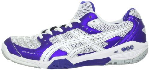 ASICS Women's Gel-Blade 4 Shoe,Purple/White/Lightning,7.5 M US