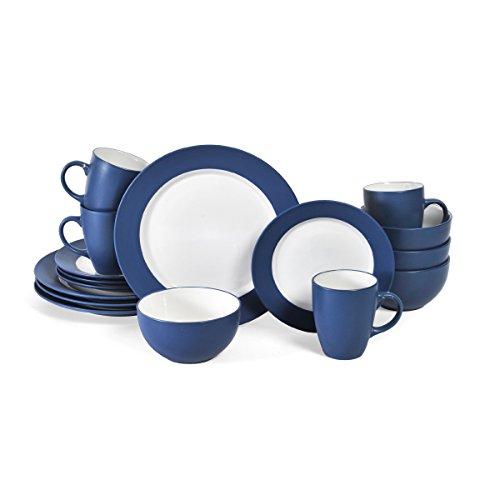 Pfaltzgraff 5131070 Harmony 16 Piece Dinnerware Set (Service For 4), Cobalt