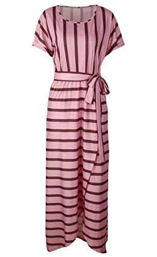 Nodo Donne Maxi Sera Delle Striscia Girocollo Cravatta Casuale Domple Vestito Irregolare Partito Rosa wfq4xPnEXx