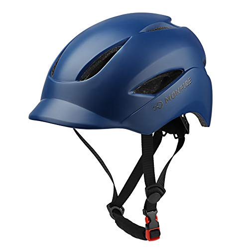 MOKFIRE Adult Bike Helmet That's Light, Cool & Sleek, Bicycle Cycling Helmet CPSC and CE Certified with Rear Light for Urban Commuter Adjustable Size for Adult Men/Women - Dark Blue