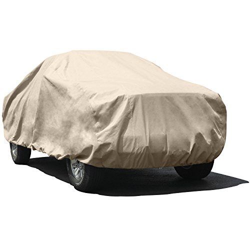 Budge TA-2X Size 2X Max Bed Length 7' (84 inches) Protector IV Truck Cover Fits Compact Extended Cab Pickups up to 210 inches (4 Layers, Tan)