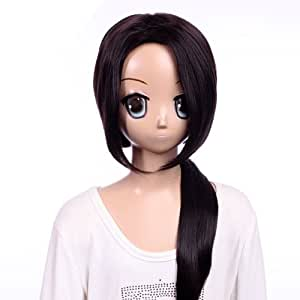 28 ''inch Party Hetalia Long Black Straight Cosplay Wig With Bang