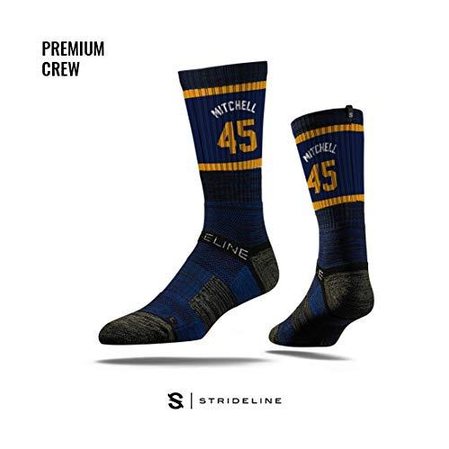 (Strideline NBA Utah Jazz Donavan Mitchell Jersey Premium Athletic Crew Socks, One Size)