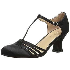 Ellie Shoes Women's 254 Lucille Dress Sandal, Black, 6 M US