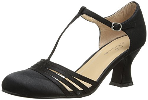 Flapper Jane (Ellie Shoes Women's 254 Lucille Dress Sandal, Black, 7 M US)