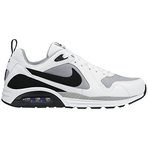 Nike Air Max Trax Zapatillas de running, Hombre Gris / Negro / Blanco / Verde (Wolf Grey / Black-White-Prsn Vlt-)