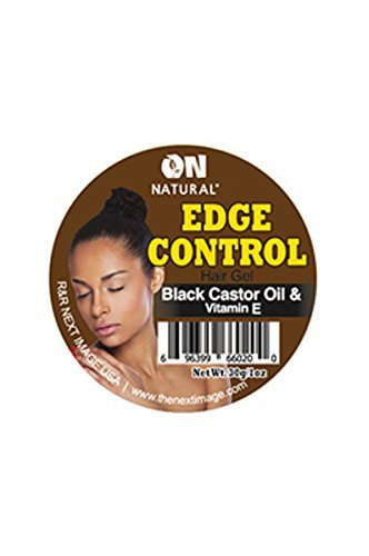 On Natural Organic Edge Control Hair Gel, Black Castor Oil & Vitamin E - Edge Natural