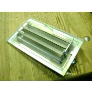 RELIABLE PRODUCTS 8X4C1LMW/C1LMSZ-8X4 8'' X 4'' ALUMINUM CURVED BLADE WALL REGISTER