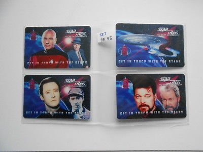 (Star Trek Next Generation rare limited issued phonecard collectible set)