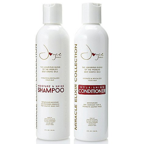 (Miracle Elixir Moisture & Shine Shampoo and the Nourishing Conditioner, together!)
