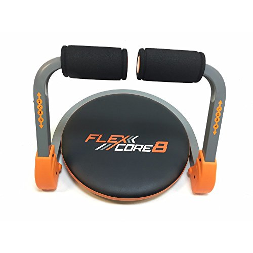 Intellibrands Flex Core 8 Trainer - Exercise Machine w/ Training Guide + Workout DVD, Gym Quality, Heavy Gauge Steel - Orange/Black