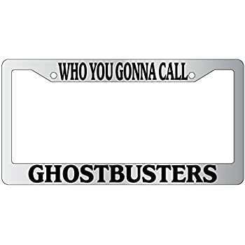 GHOSTBUSTERS Thin Top Custom License Plate Frame