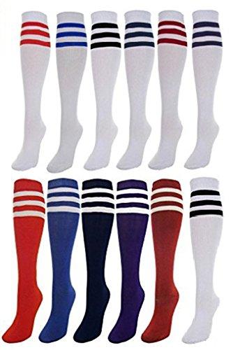 J.Ann Women's 12-pair/pack Heavy/Thick Knee High Socks, Pick Your Combo, Sock Size 9-11 (Ls430_all12) Ann Wide Leg
