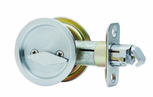 Stanley National S849-125 Latch Pocket Door Privacy Satin Nickel