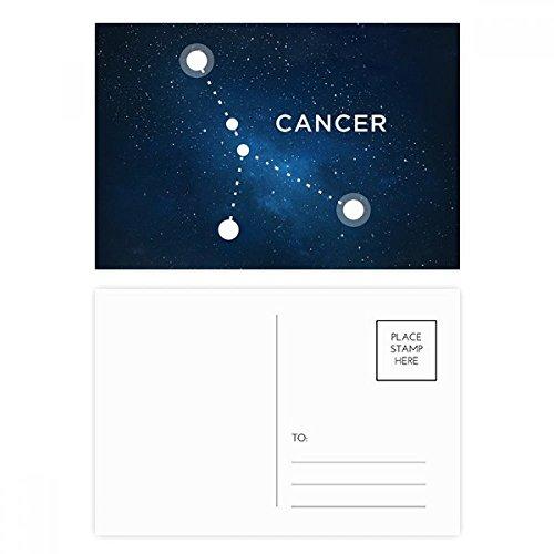 Cancer Constellation Zodiac Sign Postcard Set Birthday Thanks Card Mailing Side 20pcs by DIYthinker