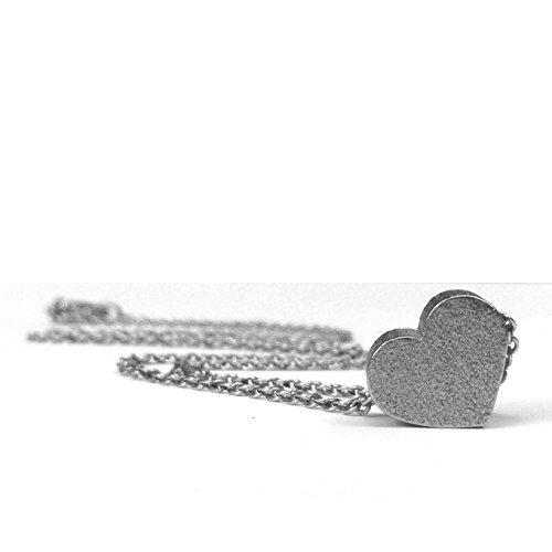 Small Stainless Steel Heart Pendant Necklace 16 Inch Chain