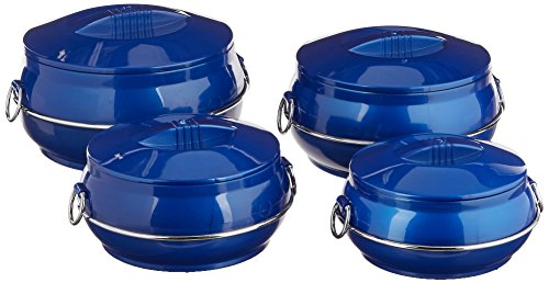 Cello Daawat Insulated Casserole Hot Pot Food Warmer, 4-Piece Gift Set, Assorted Colors(Color may Varry) by Cello
