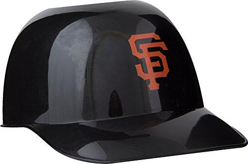 Official MLB Mini Baseball Helmet 8oz Ice Cream/Snack Bowls, 1 Count, San Francisco Giants