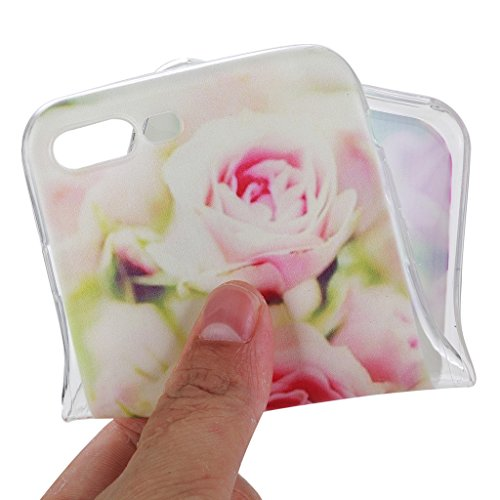 iPhone 7 Plus Cover , YIGA Moda Trasparente Peonia Fiore Silicone Morbido TPU Case Custodia per Apple iPhone 7 Plus 5.5