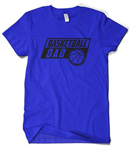 Cybertela Men's Basketball Dad T-Shirt (Royal Blue, 2X-Large)