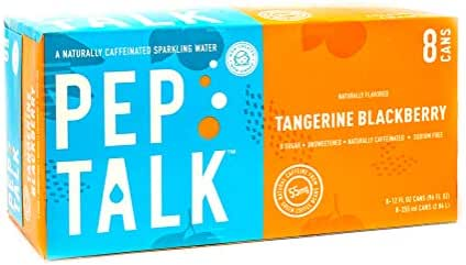 Pep Talk Caffeinated Sparkling Water - Tangerine Blackberry