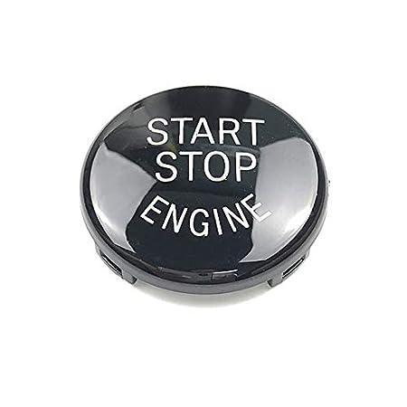 Nero Semoic Auto Start Stop del Motore Interruttore Pulsante Sostituisci Copertura E60 E70 E71 E90 E92 E93