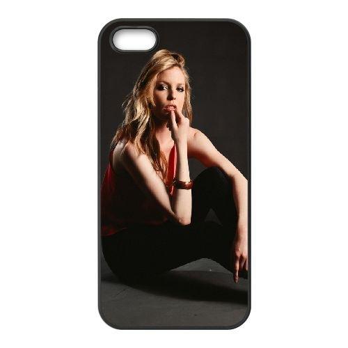 Blonde Model Shade Photoshoot Shoes 60583 coque iPhone 5 5S cellulaire cas coque de téléphone cas téléphone cellulaire noir couvercle EOKXLLNCD22306