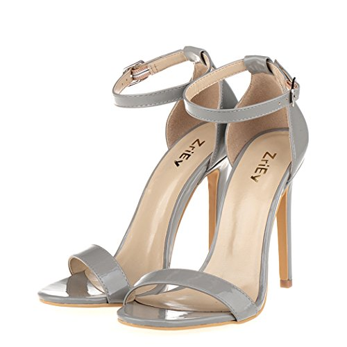 61e6d70cb ZriEy Women s Heeled Sandals Ankle Strap Dress High Heels Stilettos ...