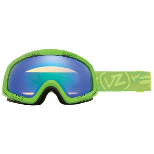 VonZipper Feenom Adult Winter Sport Snowmobile Goggles Eyewear - Lime Satin/Quasar Chrome / One Size Fits All