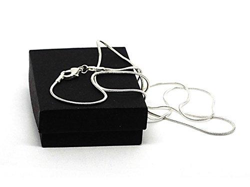 Authentique Argent 925collier en argent sterling avec pierre de lune Fall Rose fait main boîte à bijoux noir