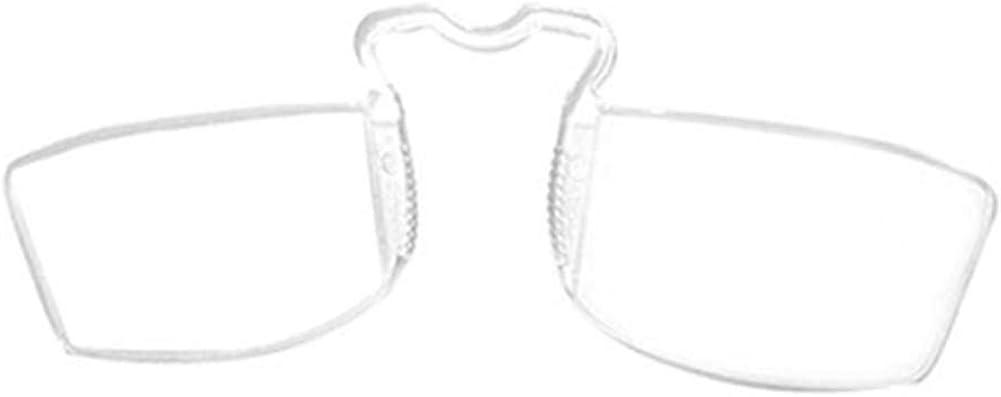YUNCAT Occhiali da lettura senza astine e senza montatura Uomini e donne naso riposo occhiali da lettura Pince-nez occhiali da lettura+1.00 1.50 3.00 2.50 2.00