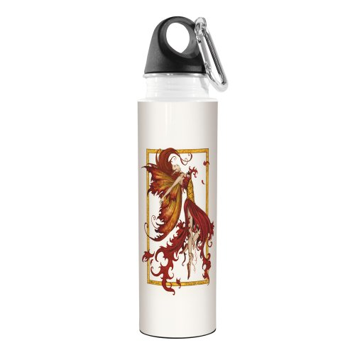 Tree-Free Greetings VB47547 Amy Brown Fantasy Artful Traveler Stainless Water Bottle, 18-Ounce, Fire Dance Fairy