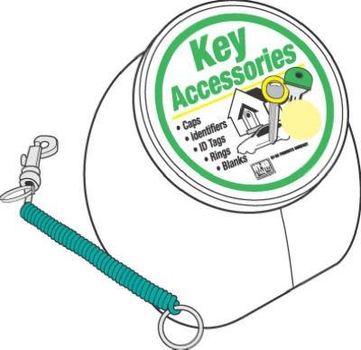 UPC 029069752071, 25PK Coiled Key Ring