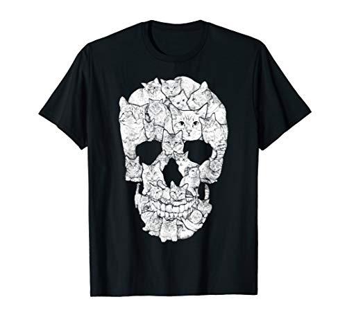 Cat Skull Kitty Skeleton Halloween Costume Idea T -