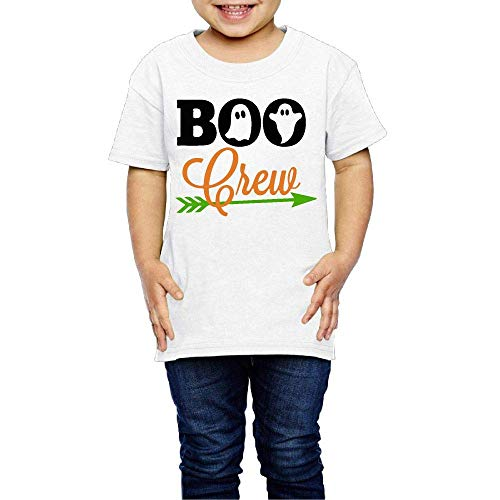 Wieke Boo Ghost Crew Happy Halloween Costume Toddler/Infant O-Neck Short Sleeve Shirt T-Shirt for 2-6 Toddlers -