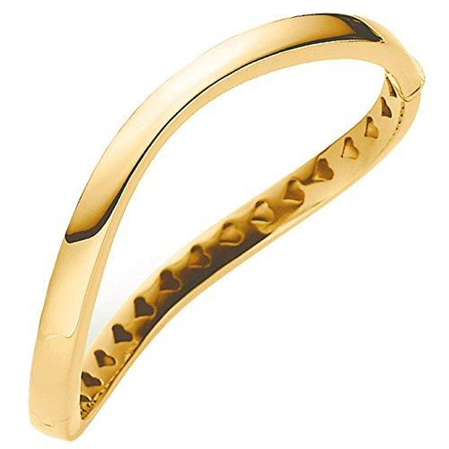 Bracelet bracelet 6 mm en or 585 or jaune avec fixation ondulé pour femme