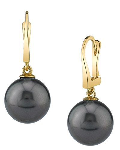14K Gold Tahitian South Sea Cultured Pearl Classic Elegance Earrings by The Pearl Source