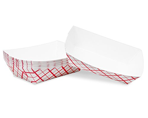 Mini (1/4 Lb.) Red Plaid Paper Food Tray | 25 Ct