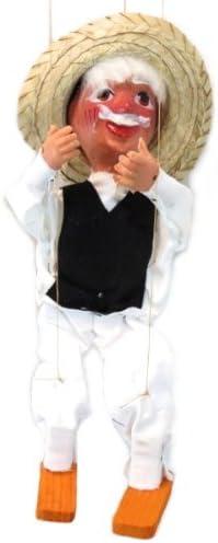 Leos Imports Mexican Puppet Marionette (Viejito)