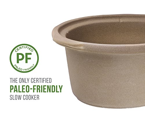 Chefman Slow Cooker, All Natural XL 7 Qt. Pot, Glaze-Free, Chemical-Free Stovetop, Oven, Dishwasher Safe Crock; The Only Naturally Nonstick Paleo Certified Slow Cooker, Free Recipes Included by Chefman (Image #2)