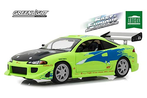 1995 Mitsubishi Eclipse, Fast and Furious - Greenlight 19039 - 1/18 Scale Diecast Model Toy Car