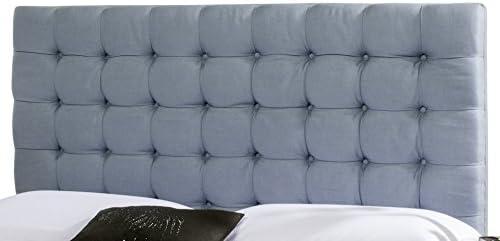 Safavieh Lamar Slate Blue Upholstered Tufted Headboard Queen