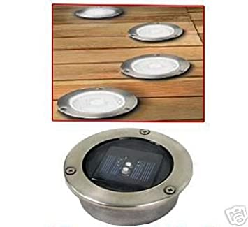 Set of 12 solar powered decking lights amazon garden outdoors set of 12 solar powered decking lights aloadofball Image collections